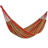 YKS Hamaca de Algodón Multicolor de 200 × 80cm Gran Cama, Resistencia de 150kg