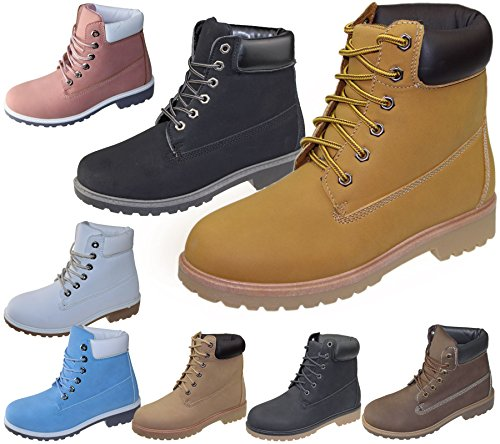 Womens-High-Top-Boots-Hiking-Desert-Trail-Combat-Ladies-Ankle-Chelsea-Work-Lace-Up-Biker-Shoes-Size