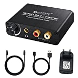 192KHz DAC Konverter Digital SPDIF Optisch Koaxial Toslink zu Analog Stereo Audio L/R RCA 3,5mm Buchse Audio Adapter