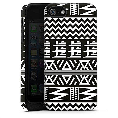 Apple iPhone X Silikon Hülle Case Schutzhülle Tribal Muster Ethno Style Tough Case matt