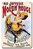 Au Joyeux Moulin Rouge - Póster de Moulin Rouge Cabaret, París, Francia, Qui Danse Tous les Soirs (todas las noches) - Spectacle • Concert • Ball - Póster de teatro vintage c.1890s - Fine Art Print