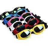 1pc elegante Fun Pet Occhiali da sole-infrangibile Uv Protezione degli occhi Portare acqua a prova di cane occhiali con la cinghia regolabile per Pet Dog Gatti - colore casuale