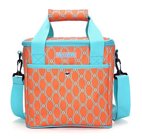 Mier borsa pranzo imbottita soft cool tote per ragazze, donne e signore, 10l, arancione