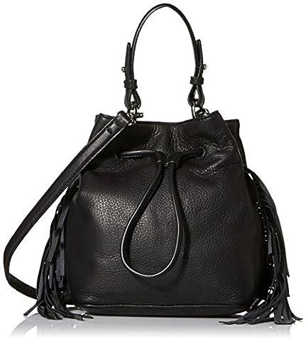 Kenneth Cole New York Prince St Fringe Bucket Bag, Black, One Size