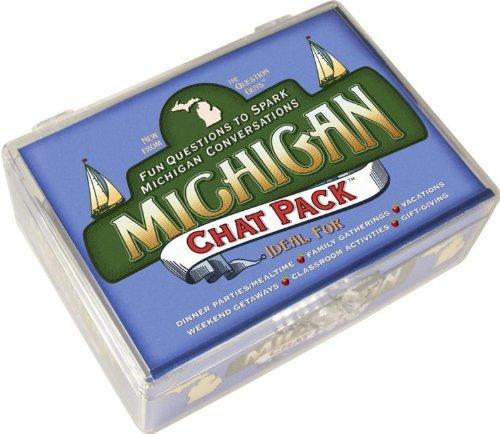 Michigan Chat Pack: Fun Questions to Spark Michigan Conversations (Karte Von Michigan)