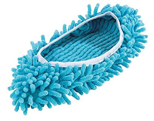 Mop Slipper mit Mikrofaser Korallen gegen Staub, Flusen und Tierhaare (Schuhe Microfaser)