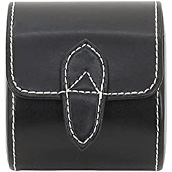 friedrich|23 Snap Watch Roll for 1 Watch, Genuine Leather, 8.5 x 7 x 9.5 cm, London, black, 26720 2