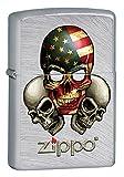 Zippo 15l022Briquet, laiton, gris, 5.70x 3,70x 1,2cm