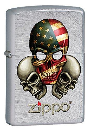 Zippo 15L022 Accendino a Benzina, Ottone, Grigio, 5,70 x 3,70 x 1,20 cm