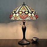 HDO 16 Zoll Antike Luxus kreative Tiffany Stil Tischlampe Nachttisch Lampe Schreibtisch Lampe Wohnzimmer Bar Lampe