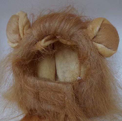 enmähne Perücke für Hunde und Katzen, Halloween-Kostüm mit Ohren ()