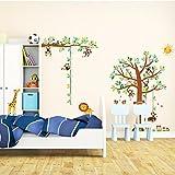 Decowall DM-1401P1402 8 Affen Groß Baum Zweig Höhentabelle Waldtiere Tiere Wandtattoo Wandsticker Wandaufkleber Wanddeko für Wohnzimmer Schlafzimmer Kinderzimmer Vergleich