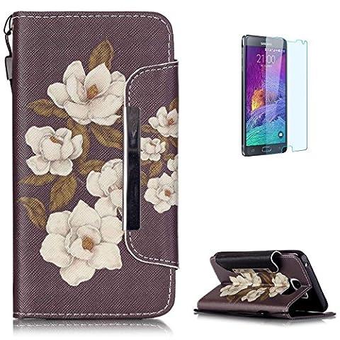 Coque Samsung Galaxy Note 5 en Cuir Housse [avec Gratuit