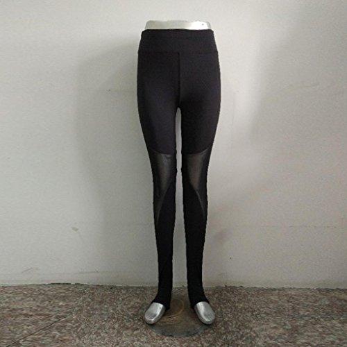 Femmes Sportswear,Tonwalk Skinny Leggings Pantalon de yoga en patchwork Noir