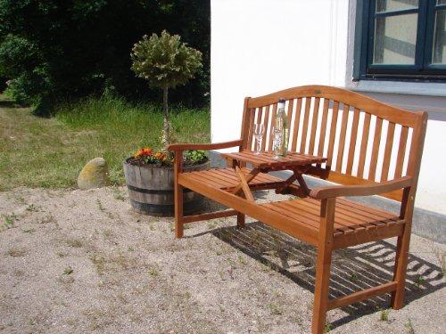 gartenbank holzbank eukalyptusbank mit ausklappbarem. Black Bedroom Furniture Sets. Home Design Ideas