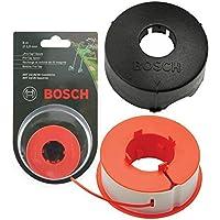 Originali Bosch ART 23 26 30 COMBITRIM EASYTRIM Strimmer / Regolatore dell'erba Rubinetto Pro-per Linea Automatica Spool + Copertina (8m, F016L71088 + F016800175)