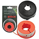 Genuine Bosch ART 23 26 30 COMBITRIM EASYTRIM Strimmer / Grass Trimmer Pro-Tap Automatic Spool Line + Cover (8m, F016L71088 + F016800175)