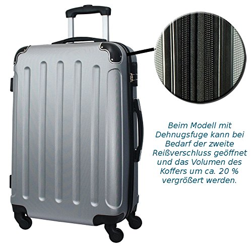 Reisekoffer ABS Hartschale Trolley L Reise Koffer Case Tasche Trolly (Coffee) Coffee