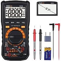 Multímetro Digital, Tacklife DM05 Polimetro 6000 counts, Manual automático de dos modos de medición,Mini Multímetro Portátil, volimetro AC/DC Tester Electrico con Botón que vuelve a cero