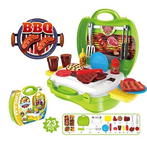 YuanCheng Spielhaus Spielzeug für Kinder, 23-teiliges Grill-Werkzeug Spielzeug für Kinder und Kleinkinder. -