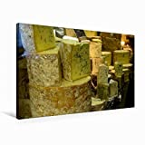 Premium Textil-Leinwand 75 cm x 50 cm quer, Blauschimmelkäse | Wandbild, Bild auf Keilrahmen, Fertigbild auf echter Leinwand, Leinwanddruck: Alles Käse (CALVENDO Lifestyle)
