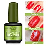 Magic Nail Polish Remover Professional, Rimuove lo Smalto in Gel Soak-Off in 3-5 Minuti, Facile e Veloce Non Danneggia le Unghie, 15 ml