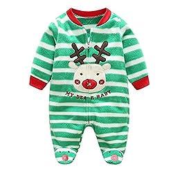 Baby Girls Boys Cartoon Costumes Infant Outfit Baby Romper Sleepsuit Fleece from Juqilu Network Technology Ltd