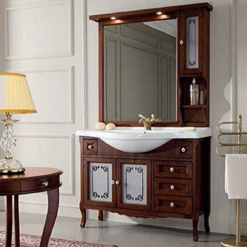 Lechic arredamenti completo 105 arredo bagno classico noce elegance specchio a pensile