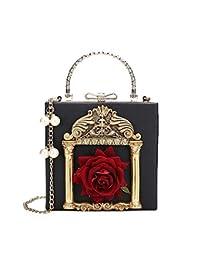 c6a8e2809 LFNYZX Embossed Flower Women Messenger Bag Pearl Chain Female Shoulder Bag  PU Leather Women's Bag Lady