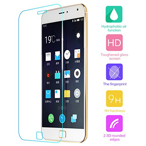 Cuitan Protector de Pantalla de Vidrio Templado para Meizu MX5 Pro (No es compatible con Meizu MX5), Transparente HD 0.33mm Espesor 9H Dureza Anti-Rasguños Protector de Pantalla de Cristal