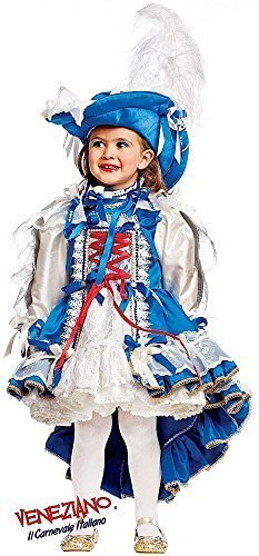 3 Mädchen Kostüm Musketiere - Fancy Me Italian Made Prestige Super Deluxe Baby &ältere Mädchen Französisch Musketier Historische Karneval Festzug Kostüm Kleid Outfit 0-10 Jahre - 3 Years