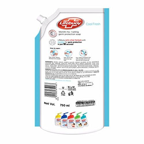 Lifebuoy Cool Fresh Menthol Hand Wash - 750 ml