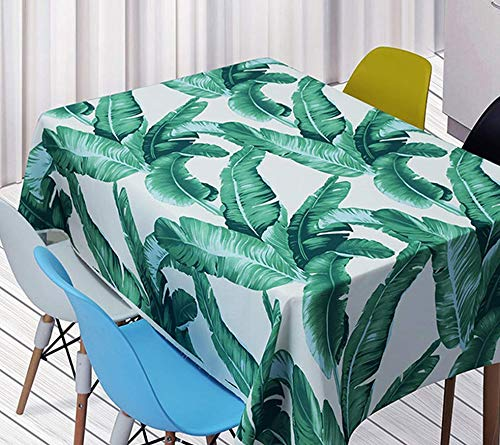 QWEASDZX Mantel Selva Tropical Estilo Rural Paño Mantel Decorativo Impermeable Mantel a Prueba de Aceite Antimanchas Adecuado para Interiores y Exteriores Mantel Rectangular 140x180cm