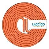 LACCICO Finest Waxed Laces - Durchmesser 2,5 mm, robuste gewachste premium Schnürsenkel; Farbe:Orange, Länge:150 cm