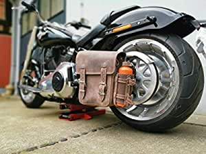 Hulk Brown Harley Davidson Braun Mit Flaschenhalter Softail Schwingentasche Seitentasche Satteltasche Hd Dirty Echtleder Orletanos Leder Auto