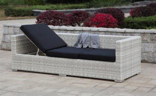 Multi Sofa Gartensofa mit Kissen Poly-Rattan, white wash - 2