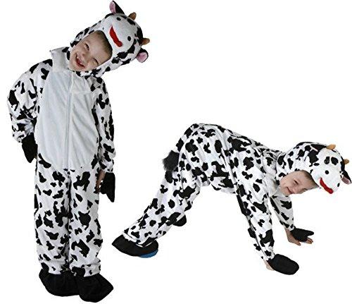 Gr. 98-128 KUH Kinder Kostüm Jungen Mädchen Kinderkostüm Karneval (Kuh Kind Kostüme)