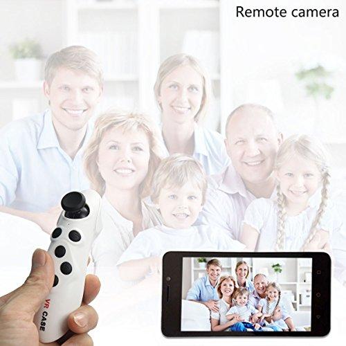 OnO® Drahtlos VR Game Controller Portable Gamepad Fernbedienung für 3D-VR-Brille Karton Selfie Kamera Shutter Wireless Mouse Music Player für iPhone iPad E-book Tablet PC-TV-Weiß