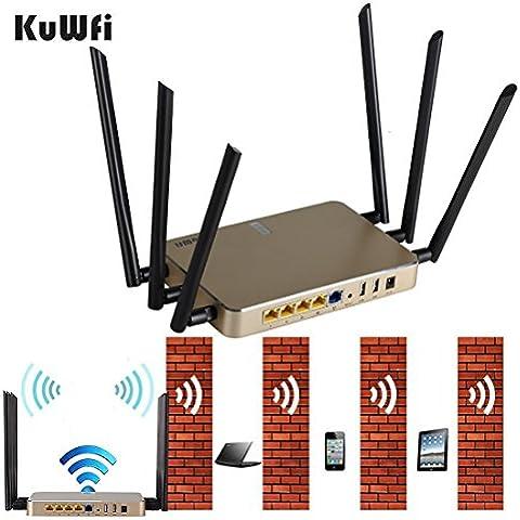 kuwfi vari function11ac 1200Mbps Doppia Banda Wi–Fi alto guadagno Router senza fili Wifi Repeater AP coprire Tempo Campo Estendere di sostenere 120utenti
