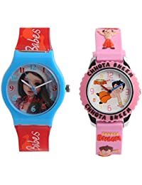 Fantasy World Pink Color Combo Watches For Boys & Girl