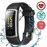 LATEC Fitness Tracker, Smartwatch Orologio Android iOS Cardiofrequenzimetro Monitor per la Pressione del Sangue Impermeabile IP68 Sportivo Contapassi Calorie Bici per iPhone Xiaomi Samsung Huawei