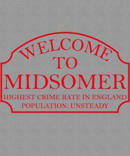 -- Inspector Barnaby - Midsomer -- Boys T-Shirt Sport Grey mit rotem Aufdruck