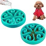 Slow Feed Dog Bowls 8 Inch, Plastic Dog Food Water 2 In 1 Bowl, Cute Dog Dish Pet Feeder Bowl 10oz Non-Skid Anti Choke… 6