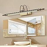 CLLCR LED-Spiegelfrontleuchte, Retro-Badezimmerleuchten, Wasserdichte LED-Make-Up-Lampen/Wandleuchten,Stil 1,9W / 56cm