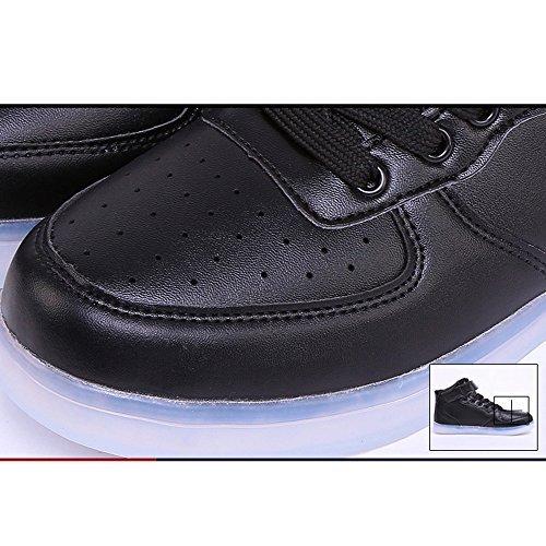 DoGeek - Chaussures Basket LED Lumineuse - Homme Femme Ou Garçon Fille - USB Rechargeable -Lumi¨¨re 7 Couleurs - Pour Adult Ou Les Grands EnfantsAdulte ¡ Rouge