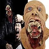 Monstleo Halloween Horror Maske Gruselige Zombie Maske - perfekt für Fasching, Karneval & Halloween - Kostüm für Erwachsene - Latex