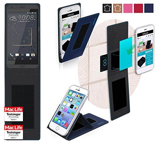 reboon Hülle für HTC Desire 630 Tasche Cover Case Bumper | Blau | Testsieger