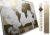 Große Deluxe Rubbel-Weltkarte – Karte zum Rubbeln – Sie können10 000 Städte und Orte markieren