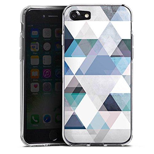Apple iPhone X Silikon Hülle Case Schutzhülle Abstrakt Triangle Muster Silikon Case transparent