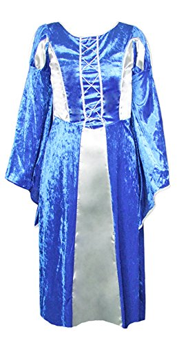 Burgfräulein Prinzessin Helena Blau Silber Gr. 140